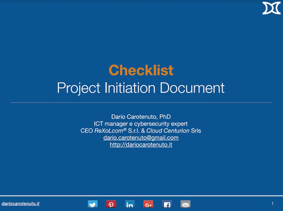 PID checklist project management
